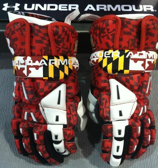 2013 University of Maryland Under Armour Lacrosse Gloves