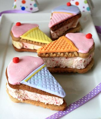 Ice Cream Cone Ice Cream Sandwiches