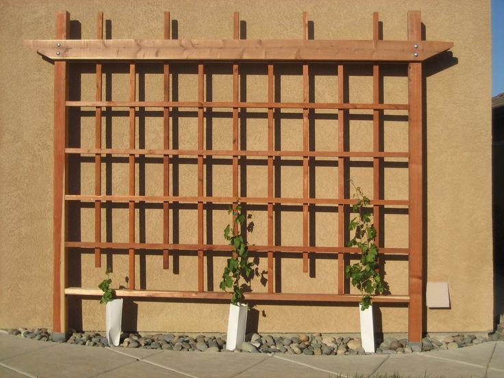 Wall Grape Trellis - by Cantil3v3r @ LumberJocks.com ~ woodworking community