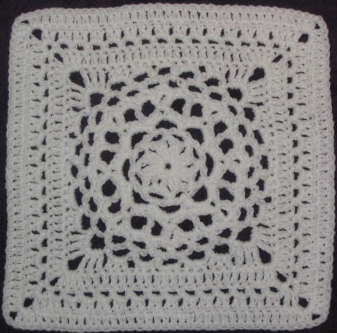 Chris Simon's Mandala pattern - 12 inch crochet square