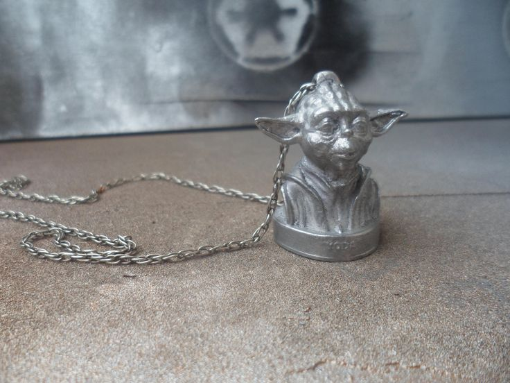 Metal pendant Yoda, Star Wars, Jewelry, Necklaces, keychain by MikeMetalMiniatures on Etsy