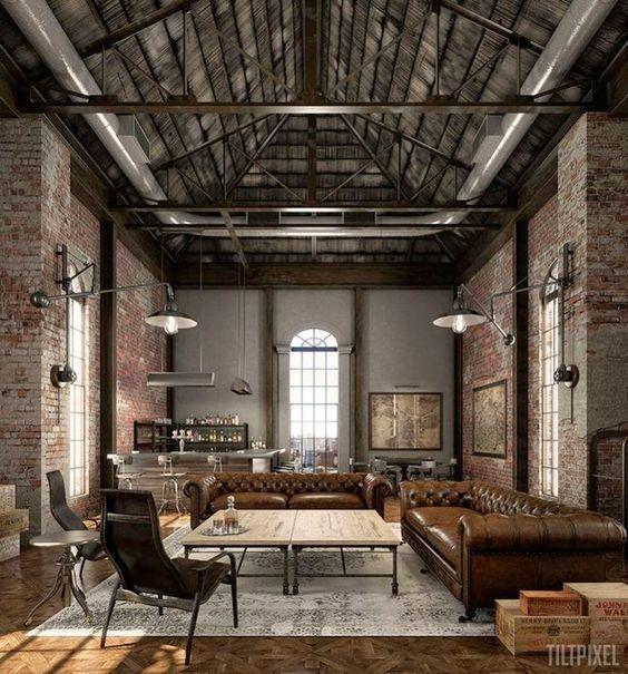 Pin Von Adam Rader Auf Brick Finish Wohnzimmer Design