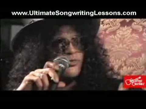 How to write a song - Slash from Gun's n Roses discusses his songwriting techniques