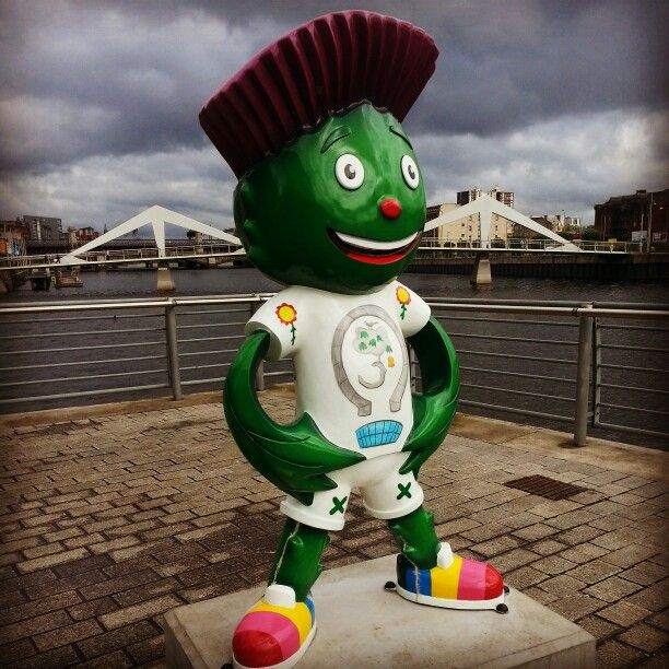 Clyde....on Clydeside....Glasgow Commonwealth Games mascot.