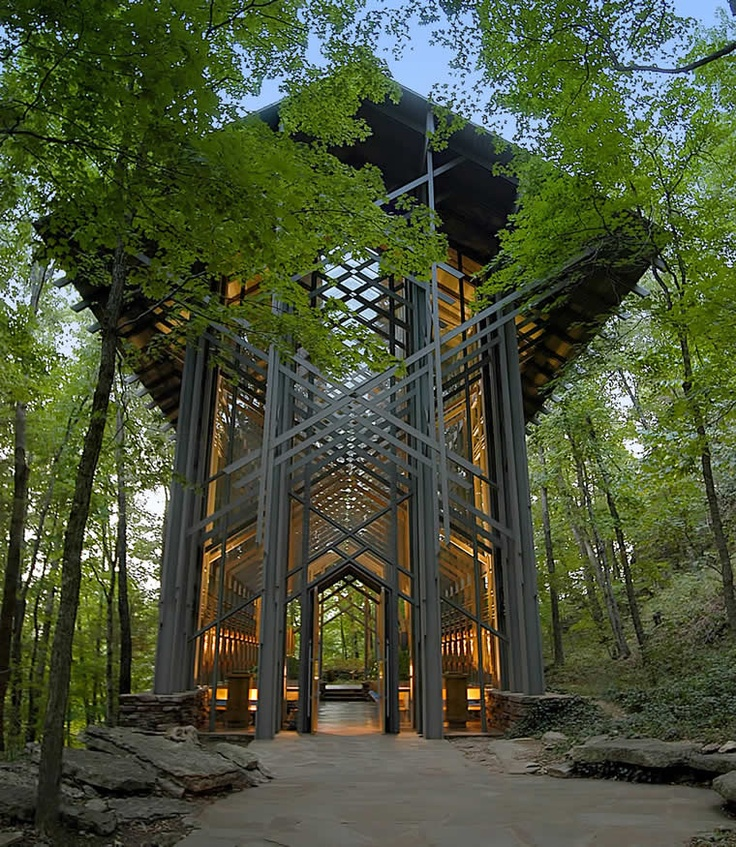 More Than Square Feet Of Glass Was Used To Create Thorncrown Chapel In The Ozark Mountains Near Eureka Springs Designed By Architect E Fay Jones