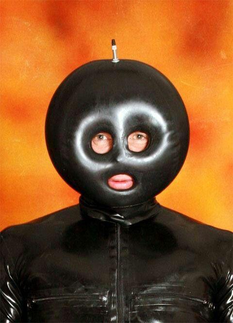 Image result for blow up gimp mask + orange
