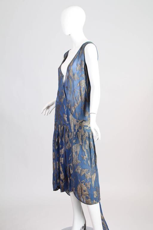 1920s Silk Lamé Dress 2