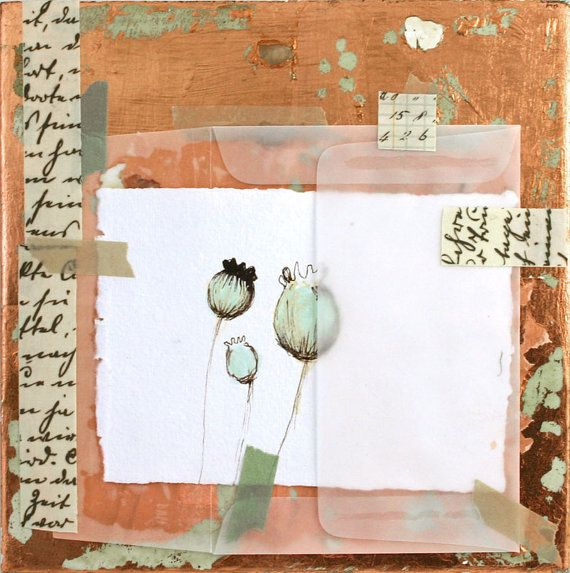Bright Day on Etsy    #collage #mixed media art