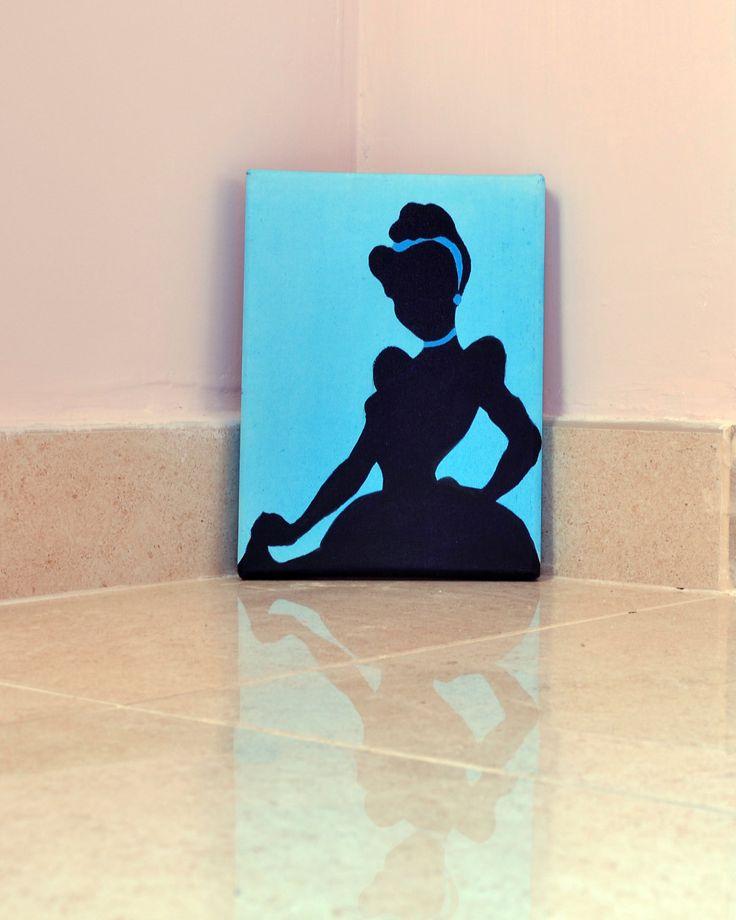 Principessa Disney Cenerentola Dipinto su tela от IlSognoDiHalima
