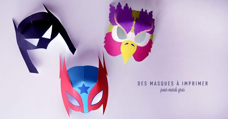 Masques super héros à imprimer