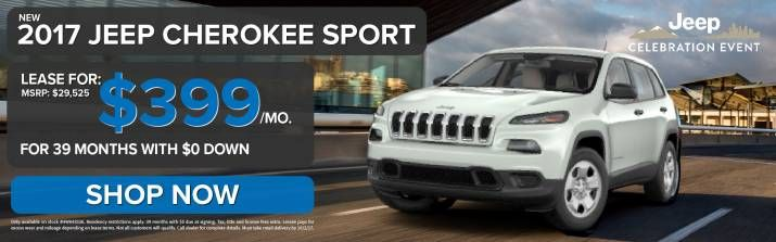 Lease a 2017 Jeep Cherokee Sport for $399/mo! SHOP NOW! #JeepLife #CarGoals #WeCan http://www.lebanoncdj.com/