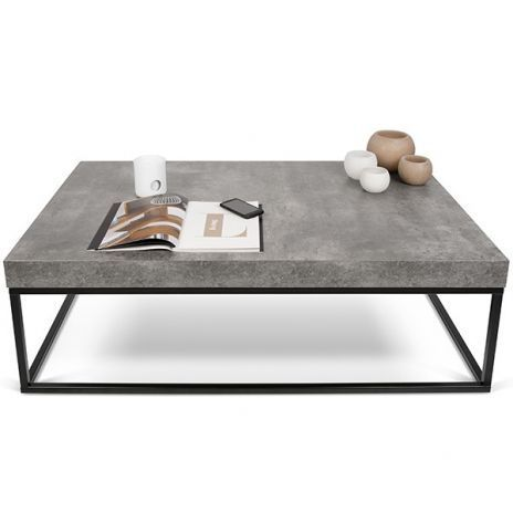 PETRA, coffee table and side table: concrete and steel, without concrete – ent