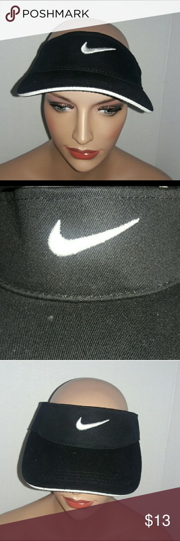 Nike Visor Hat Cap Adjustable Velcro Nike Visor Hat Cap Adjustable Velcro  Color ~ Black and White  One Size fits most.  Please feel free to make an offer. Nike Accessories Hats