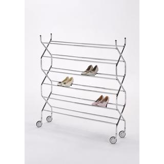 @Overstock - Inspired by the accordion, this contemporary shoe rack features a six-tier design. An adjustable length highlights this criss-cross shoe rack and allows you to store plenty of shoes. http://www.overstock.com/Home-Garden/Criss-Cross-6-tier-Shoe-Rack/7402142/product.html?CID=214117 $97.99