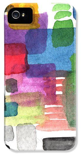 Abstract watercolor squares iPhone Case