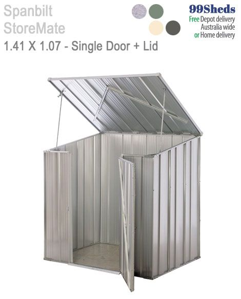 The Spanbilt Store Mate Pool Pump shed is perfect to cover your pool pump. Having a front door as well as a hatch to access from the top lid for easy access.