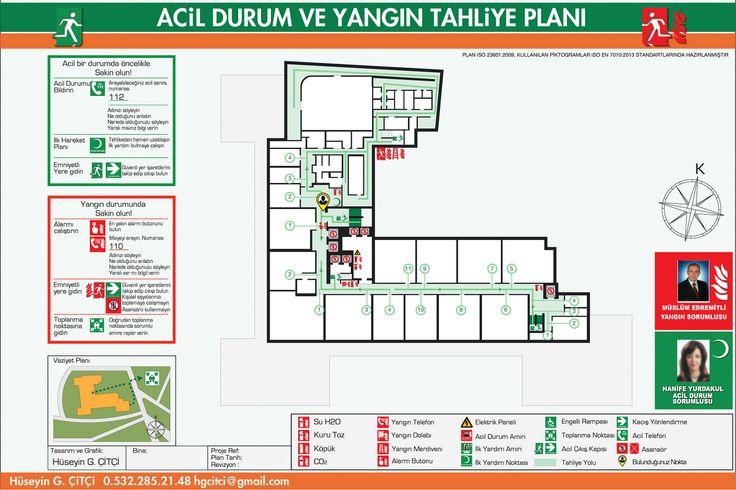 Acil Durum Planı, Yangın Tahliye Planı, Emergency Evacuation - evacuation plan templates