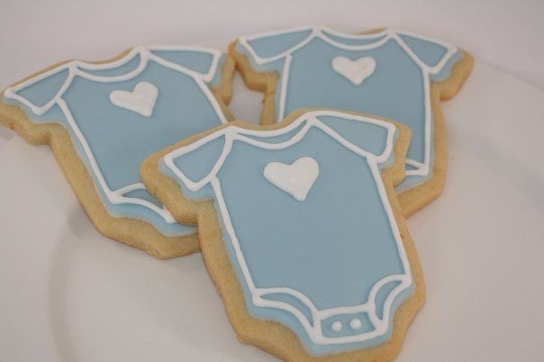 blue cookies | Onesie Cookie | Icing On The Cookie  ???????????