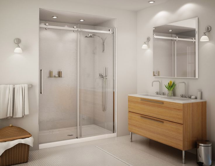 Photo Album Website Frameless Sliding Shower Door Clear Glass in at The Home Depot