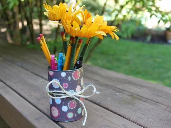 sunflower pencils are a nice addition to any room especially a classroom we think - Sunflower Decorations