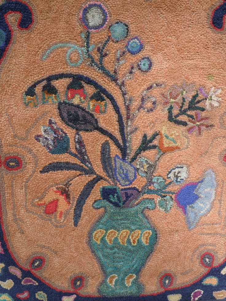 555 Best Images About Hooked Rugs Vintage Iii On