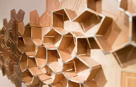 Customizable Polygon Shelving : BUILD Storage