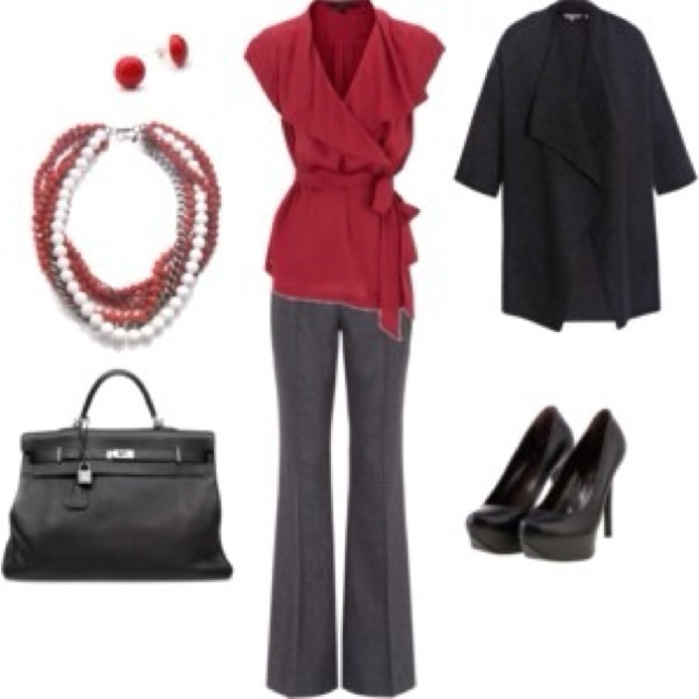 Valentines outfitWork Clothing, Fashion, Style, Closets, Shirts, Workoutfit, Work Outfits, Red Black, Red Work