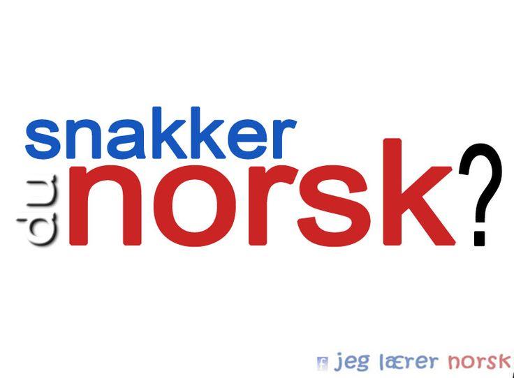 Snakker du norsk?
