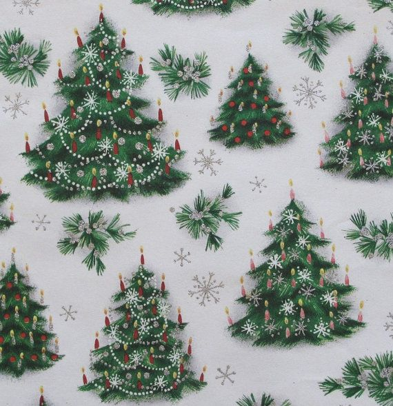 Vintage NORCROSS Christmas Gift Wrap - Wrapping Paper - CHRISTMAS TREES with…