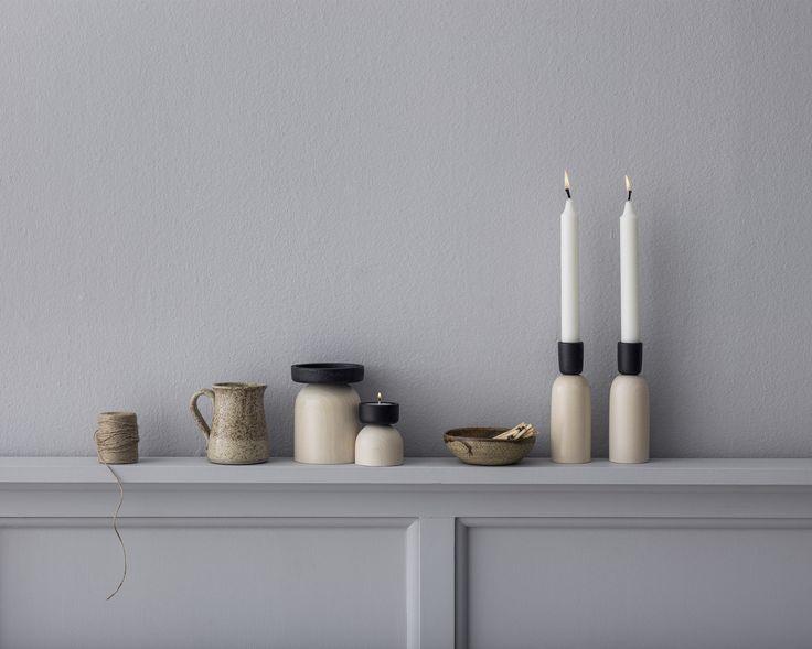 Kaamos candelholder serie by Saija Malila. www.aarikka.com