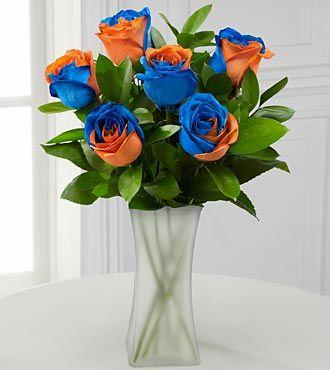 Blue/orange roses | Every little girls dream | Pinterest