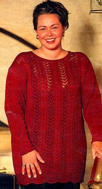 DROPS tröja i Cotton Viscose i stora storlekar ~ DROPS Design