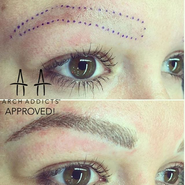 Cosmetic brow tattoo by @precision_eyebrows @precision_eyebrows…