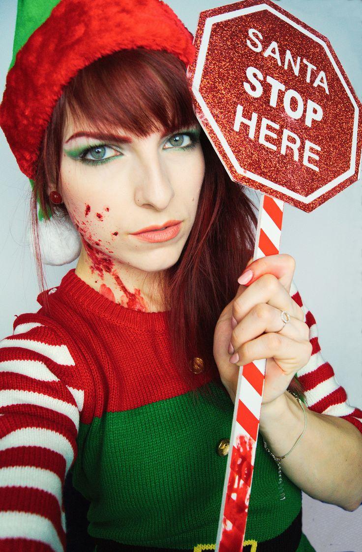 christmas makeup christmas killer elf christmas elf  elf makeup