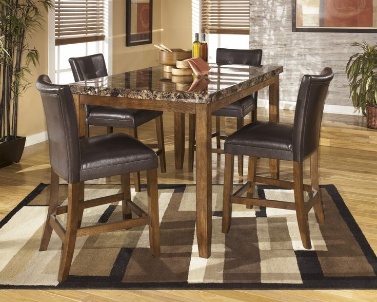 Medium Brown Dining Room Counter Table