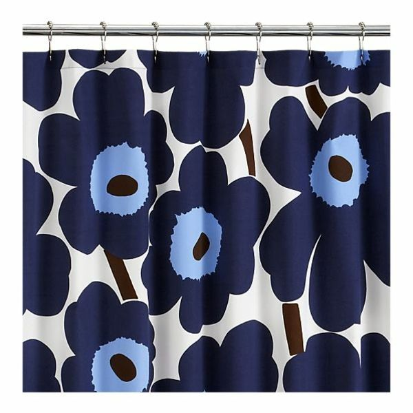 Badezimmer - Marimekko shower curtain - Fresh colors and patterns in the bathroom