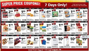 It is a common example of cheap items advertising. We can find it everyday in the supermarket.   http://www.thisfrugallife.com/2010/08/vons-special-7-day-sale-81-87.html