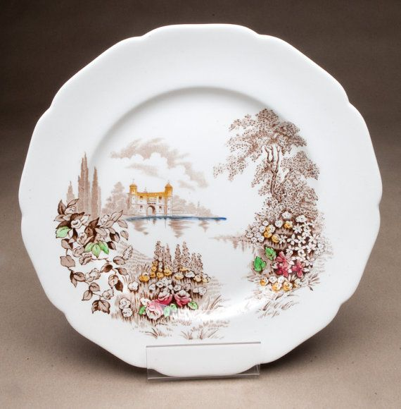 Vintage Johnson Bros Castle on the Lake pattern Johnson Bros of England plate discontinued 1950s & 289 best Johnson Brothers \u0026 Franciscan images on Pinterest | Johnson ...