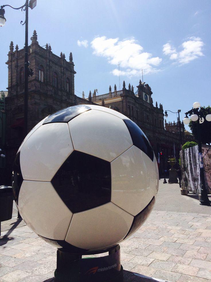El mundial en el Zócalo de Puebla