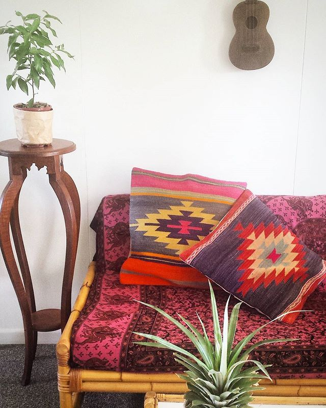 In love with these kilim cushions! ♡ bringing so much vibrance and life to the room! .  #kilim #kilimcushion #kilimpillow #kilimpillows #thekilimco #vintage #bohemian #bohemianstyle #vintagekilim #bohointeriors #bohoinspo #bohohome #instahome #livingroom #roomenvy #livingroomenvy #interiordesign #interiordesigns #homestyling #interiordesignideas #housegoals #homeinspo #interiordecor #bohodecor #jungalowstyle #bohemian #bohemianinterior