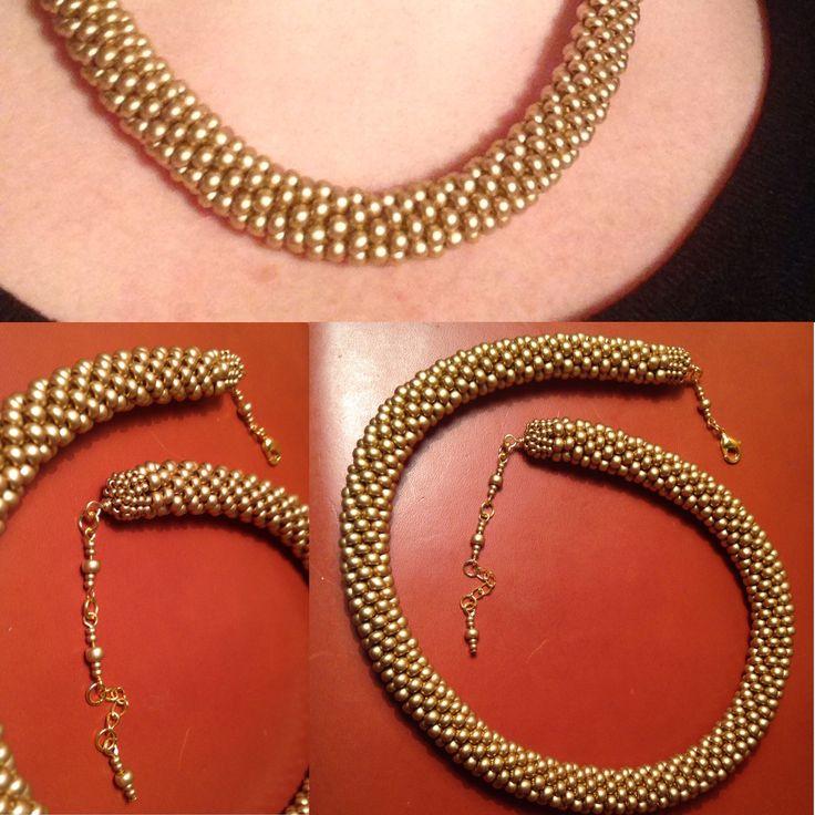 Chunky bead crochet, size 6 seed beads