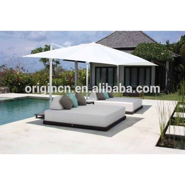 Look what I found Via Alibaba.com App: - 2 seater cheap resort outdoor used sun bed furniture rattan wicker italy beach lounger