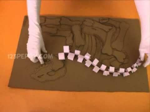 How to make a dinosaur fossil// Dig Into Your Past Bulletin Board