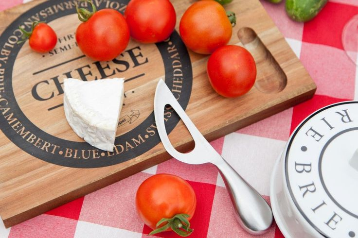 Deska drewniana S&P Fromage do serów 30x20cm + nóż , 30x20cm - Dekoria