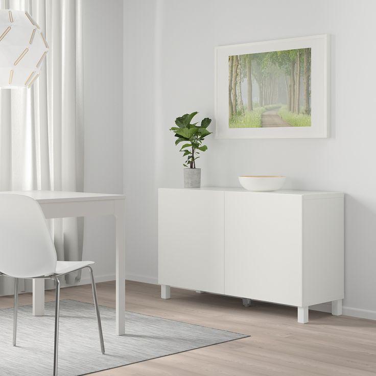 Besta Combinaison Rangement Portes Blanc Lappviken Blanc 120x42x65 Cm Ikea En 2020 Meubles De Salon Modernes Rangement Ikea