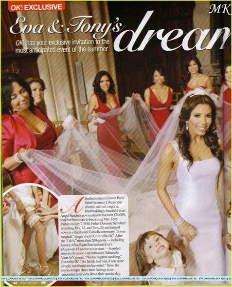 eva longoria's wedding dress