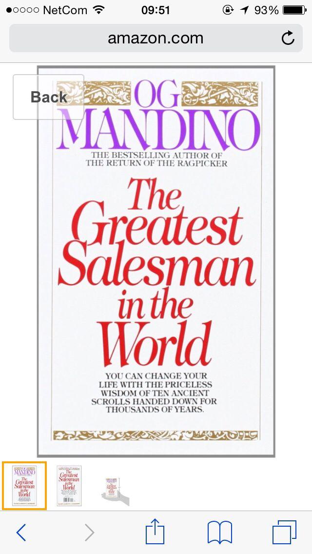 Really enjoying #TheGreatestSalesmanInTheWorld by #OgMandino #Sales