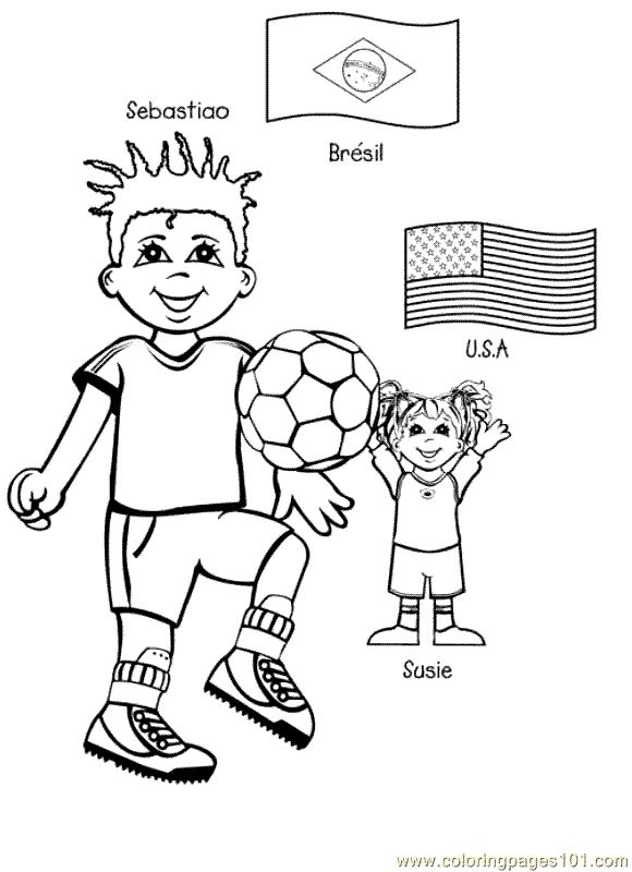 free printable coloring page Kids From Around The World 005 (Cartoons ...