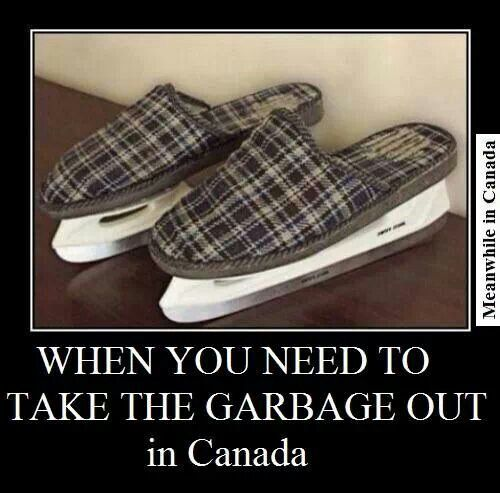 We don't need no figure skates to take the garbage out!