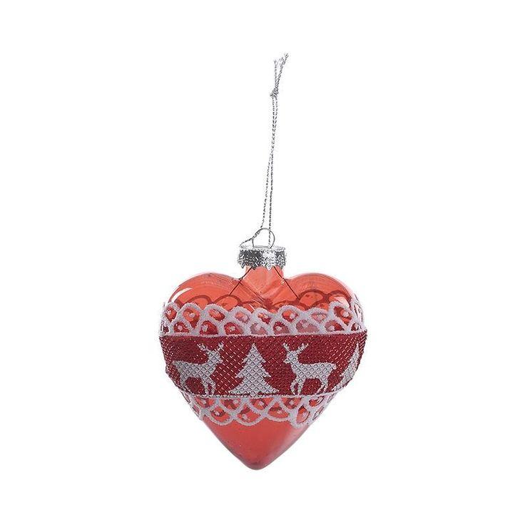 Christmas Glass Ornament Set Of 6 Pieces - Balls - Ornaments - Christmas…